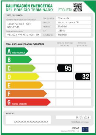 Modelo etiqueta energetica